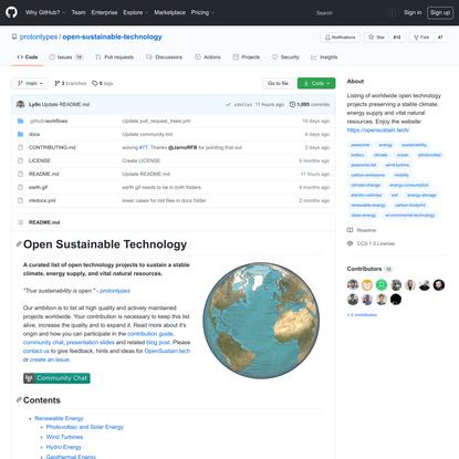 protontypes/open-sustainable-technology