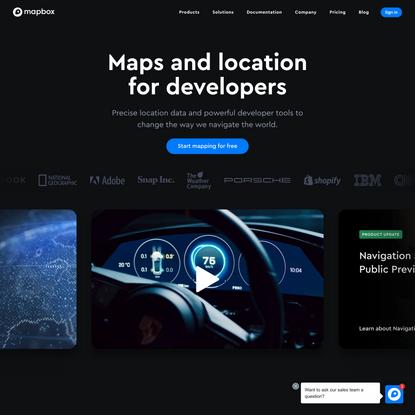 Maps, geocoding, and navigation APIs & SDKs | Mapbox