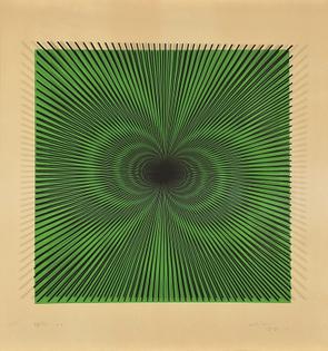 """Alberto Biasi (Padova, 1937) - Serigrafia """"S-7"""", 1961-1964."""