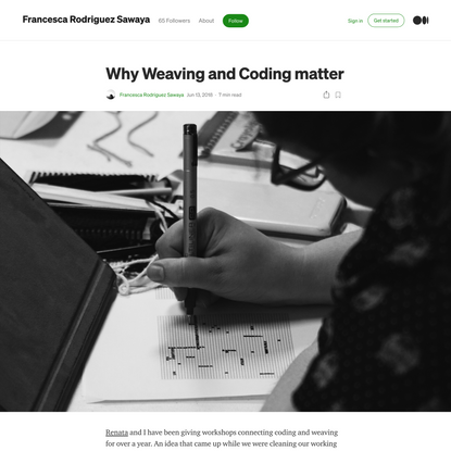 Why Weaving and Coding matter