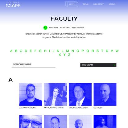 Faculty - Columbia GSAPP