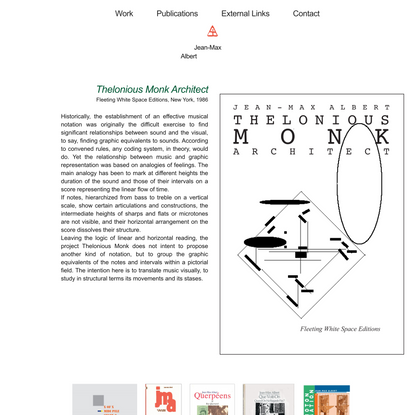 Thelonious Monk Architect – Jean-Max Albert