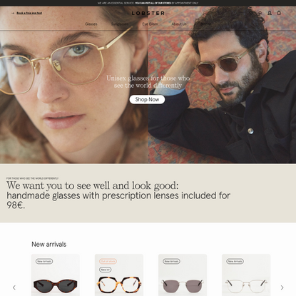 Prescription Eyewear online from €98 | Project Lobster