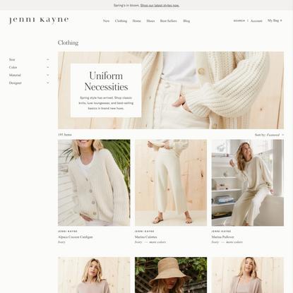 Women's Clothing   Sweaters, Classic Shirts, Denim   Jenni Kayne