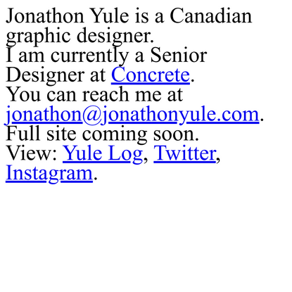 Jonathon Yule