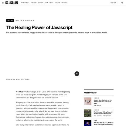 The Healing Power of Javascript | WIRED