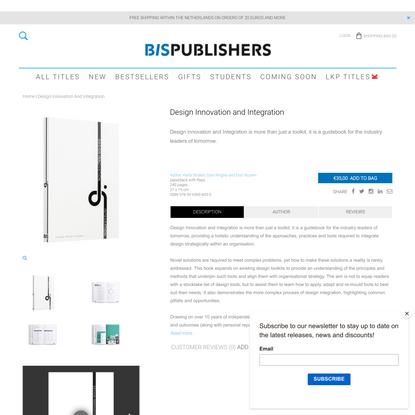 BIS | Design Innovation and Integration | Straker, Wrigley & Nusem - BIS Publishers