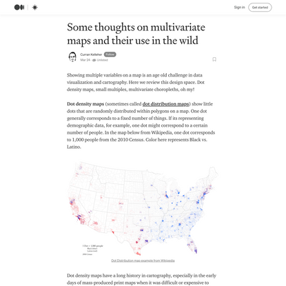 Some Thoughts on Multivariate Maps