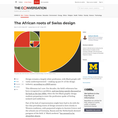 The African roots of Swiss design