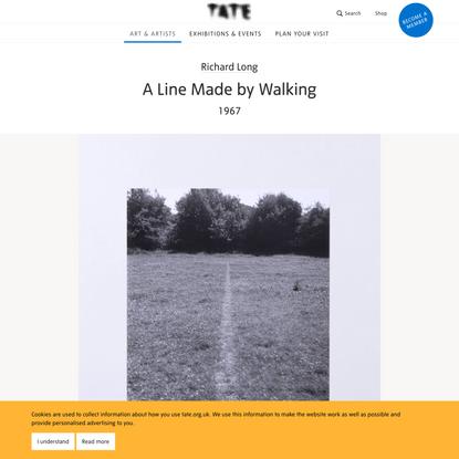 'A Line Made by Walking', Richard Long, 1967   Tate