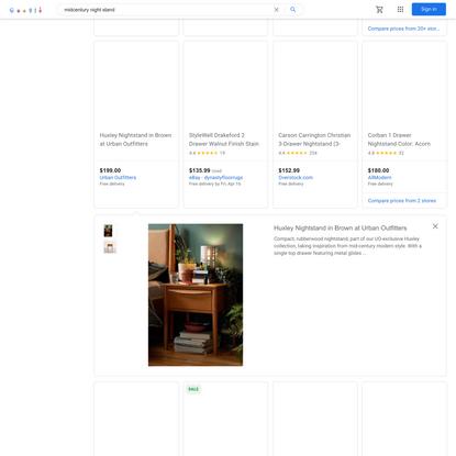 midcentury night stand - Google Shopping
