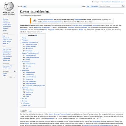 Korean natural farming - Wikipedia