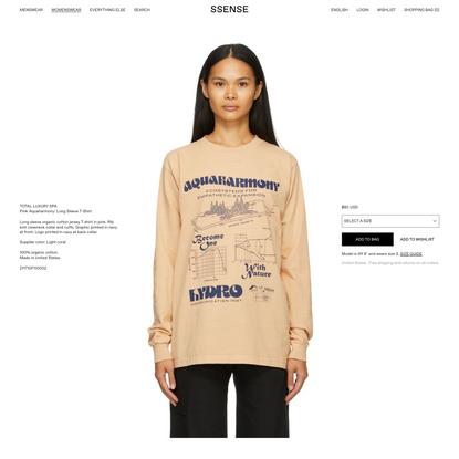 Total Luxury Spa - Pink 'Aquaharmony' Long Sleeve T-Shirt