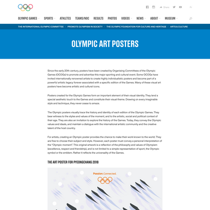 Olympic Posters - Trace the Visual Identity of the Olympic Games