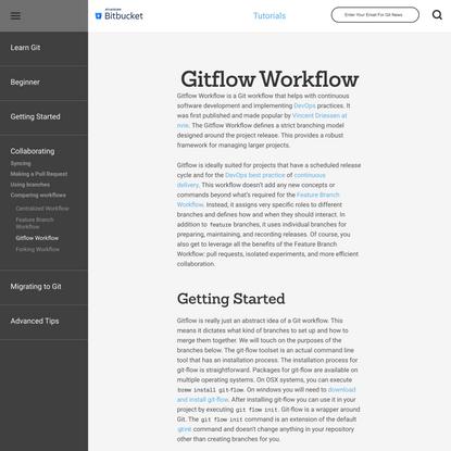 Gitflow Workflow   Atlassian Git Tutorial