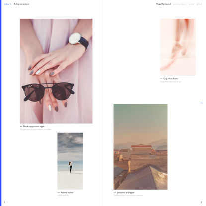 Page Flip Layout | Codrops