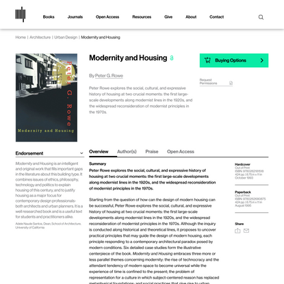 Modernity and Housing