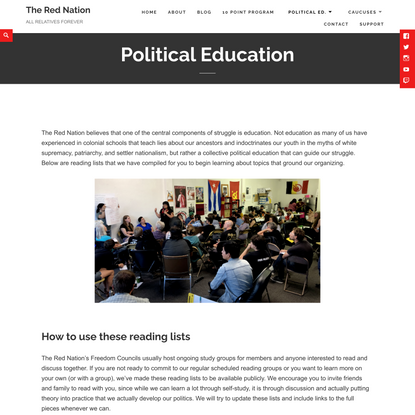 Political Education - The Red Nation