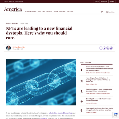 NFTs are leading to a new financial dystopia. Here's why you should care.