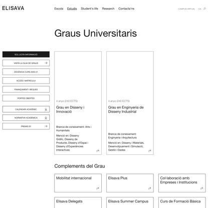 Graus Universitaris