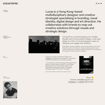 Lucas Yeung Studio — Graphic Design & Creative Strategy