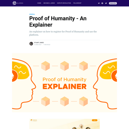 Proof of Humanity - An Explainer