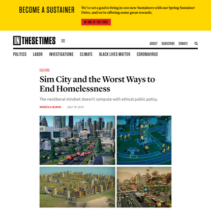 Sim City and the Worst Ways to End Homelessness
