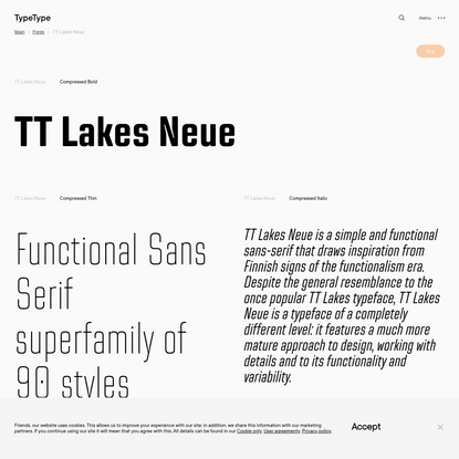TT Lakes Neue | Commercial Fonts | TypeType