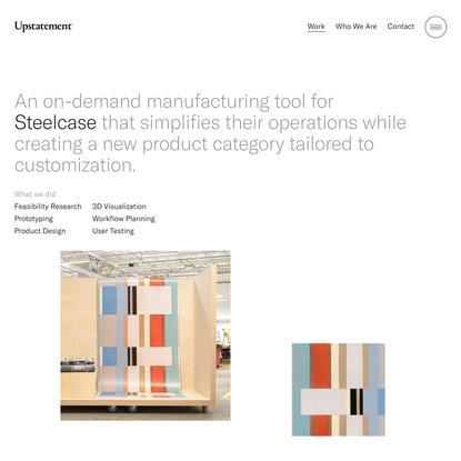 Steelcase Custom Textile Designer App