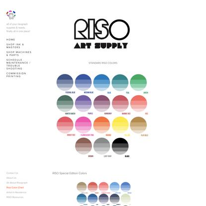 Riso Color Chart — RISO ART SUPPLY