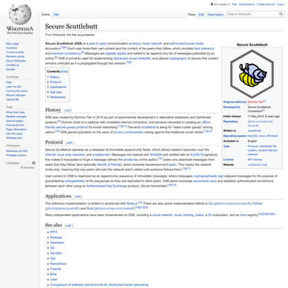 Secure Scuttlebutt - Wikipedia