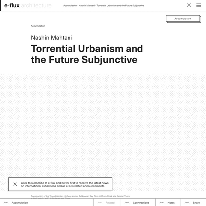 Torrential Urbanism and the Future Subjunctive