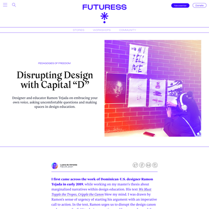 "Disrupting Design with Capital ""D"""