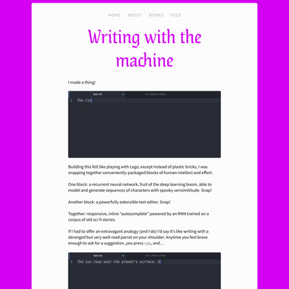 Writing with the Machine (2016)