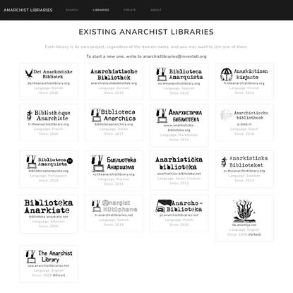Anarchist libraries