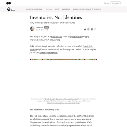 Inventories, Not Identities