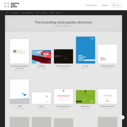Guides   Branding Style Guides