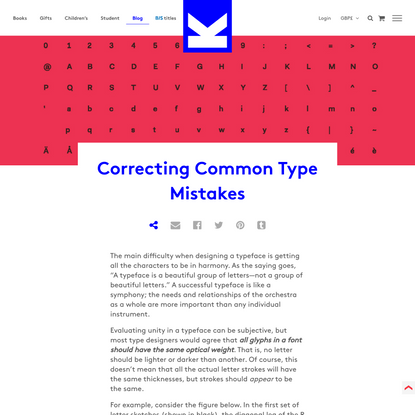 Correcting Common Type Mistakes - Laurence King