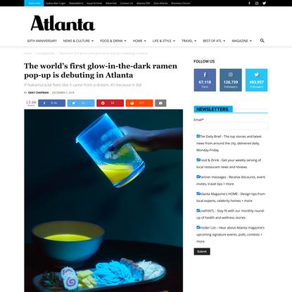 The world's first glow-in-the-dark ramen pop-up is debuting in Atlanta