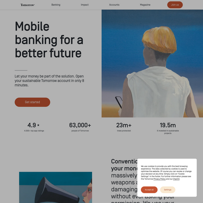 Mobile Banking for a better future   Tomorrow