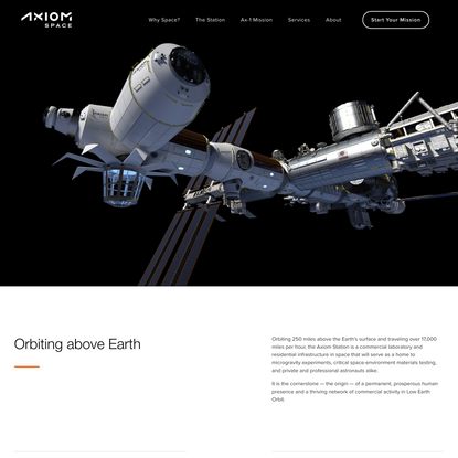 Axiom Commercial Space Station — Axiom Space