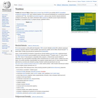 Text602 – Wikipedie