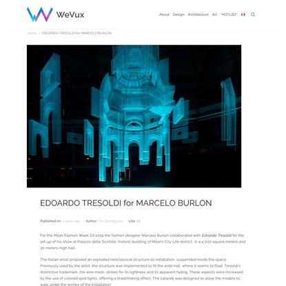 EDOARDO TRESOLDI for MARCELO BURLON   WeVux