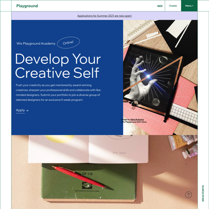 Wix Playground Academy | Develop Your Creative Self | Learn web design