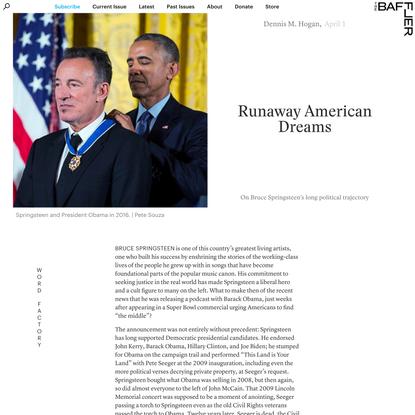 Runaway American Dreams | Dennis M. Hogan