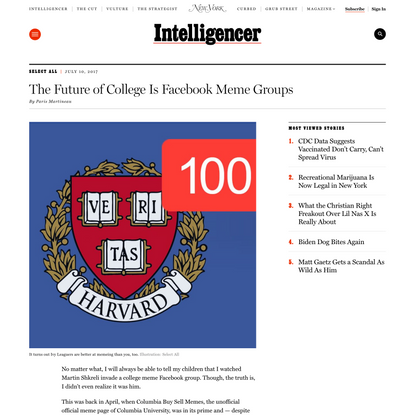 The Future of College Is Facebook Meme Groups