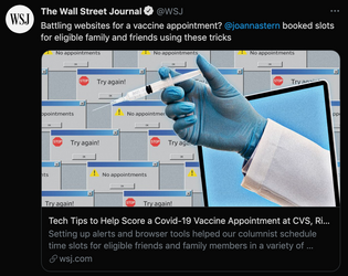 battling websites for a vaccine appointment