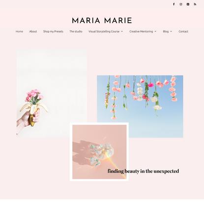 Home - Maria Marie