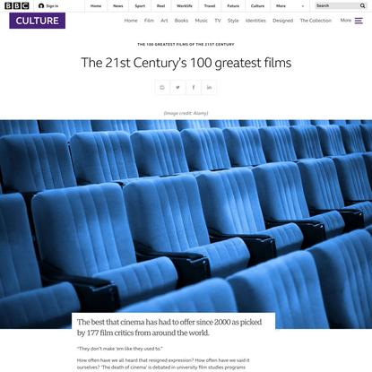 The 21st Century's 100 greatest films