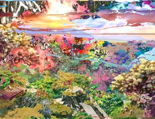 Landscape, Digital Collage, August 2010